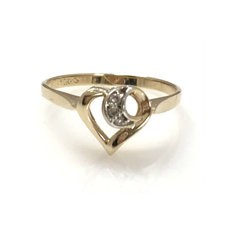 Estate Specials 10KY Heart Ring with Diamond Accent