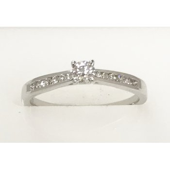14KW Channel Set Engagement Ring