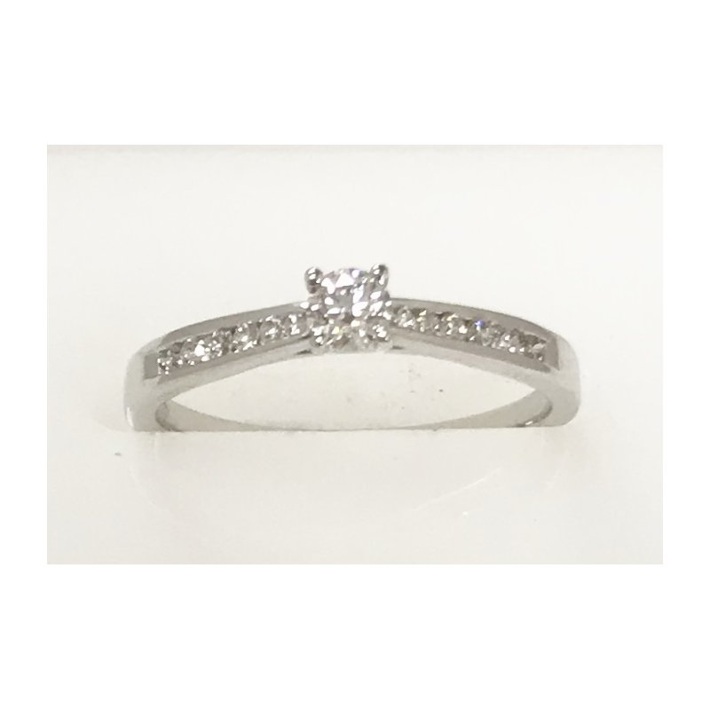 Showcase Collection 14KW Channel Set Engagement Ring