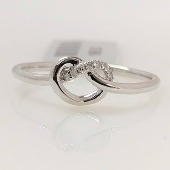 10KW Love Knot Ring with Diamond Accents