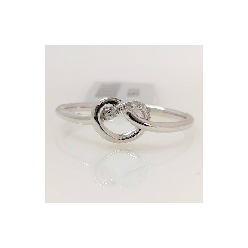 Showcase Collection 10KW Love Knot Ring with Diamond Accents
