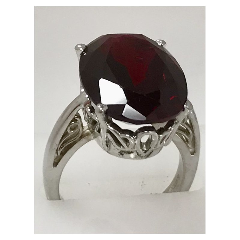 Showcase Collection Sterling Silver Synthetic Ruby Ring