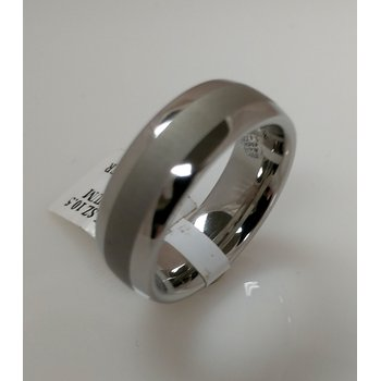 Vitalium Ring with Laser Satin centre