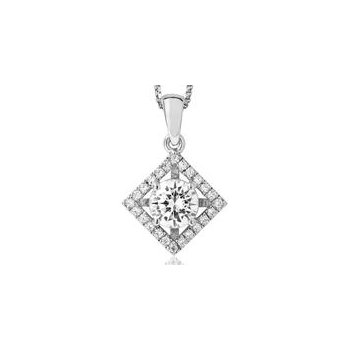 18KW Diamond Accented Pendant Mount