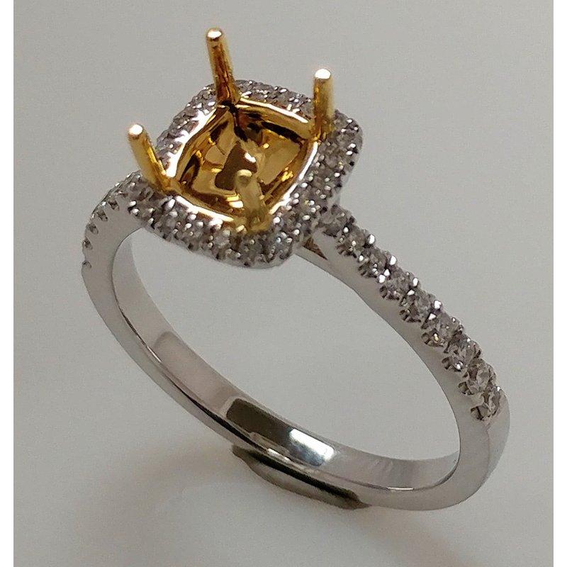 Showcase Collection Semi Set Halo Engagement Ring