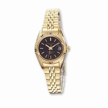 IP Gold Plated Watch with Black dial