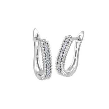 10KW Euro-back Diamond Earrings