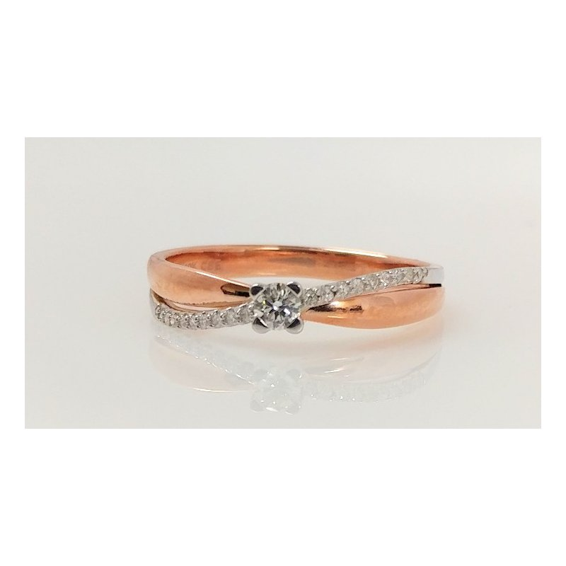 Showcase Collection 10KR Crossover Ring with Diamond Accents