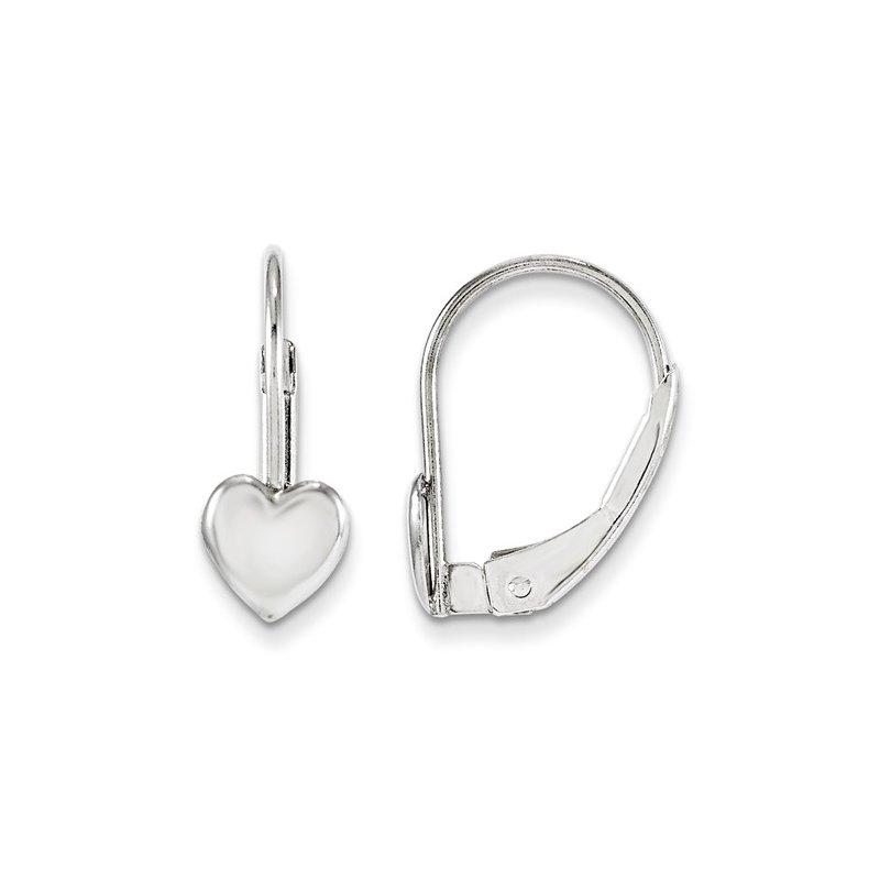 Showcase Collection 14KW Children's Heart Earrings