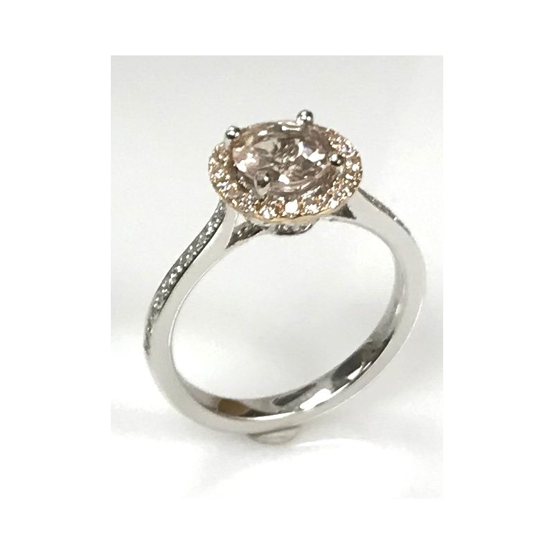 Showcase Collection Morganite and Diamond Ring