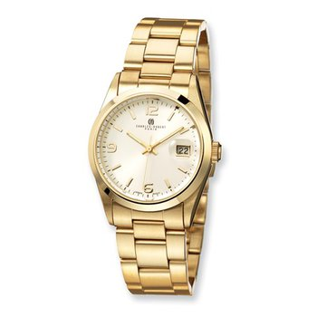 IP Gold Plated Stainless steel White Dial Watch