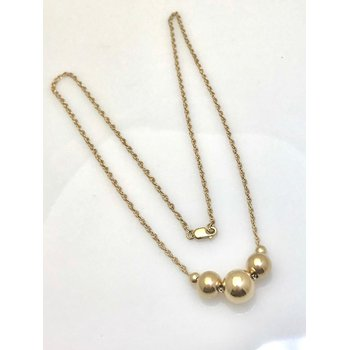 14K/10KY Rope Chain with Spheres