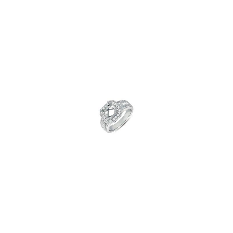 Showcase Collection 14KW Semi Set Halo Ring