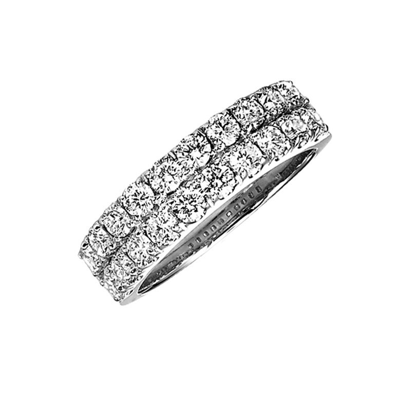Grandis Signature Diamond Band Ring in 14K White Gold 1.00 ctw HDR1469
