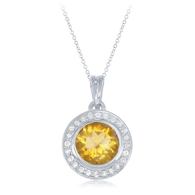 What's On Sale? Sterling Silver Citrine Pendant