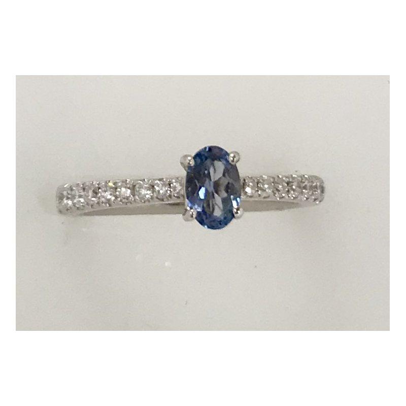 Showcase Collection 18KW Tanzanite Ring