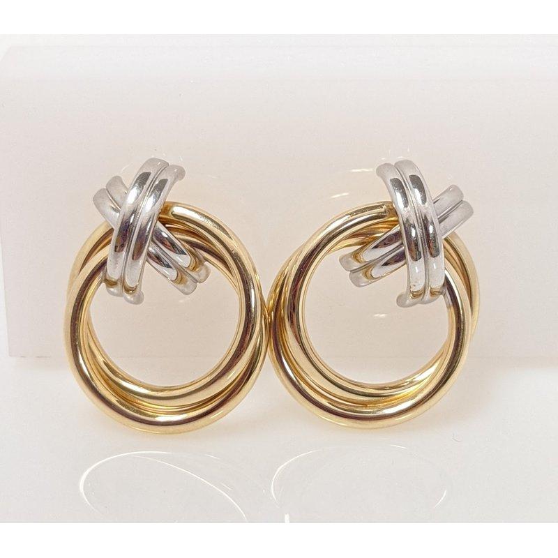 Estate Specials 14K X&O Stud Earrings