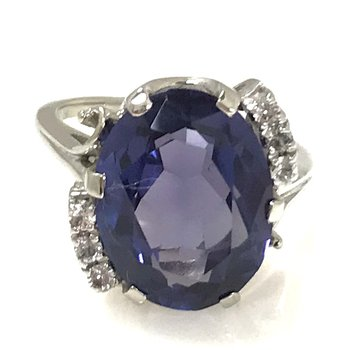 10KW Synthetic Sapphire Ring