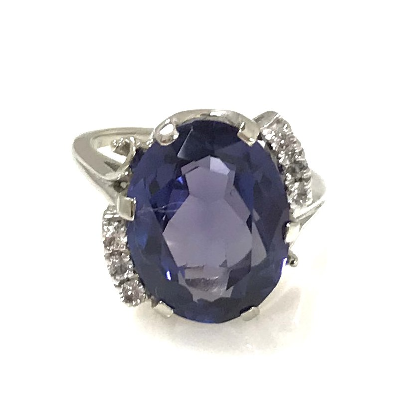 Estate Specials 10KW Synthetic Sapphire Ring