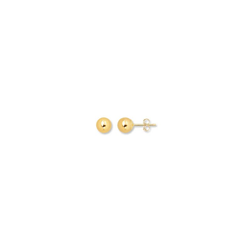 Showcase Collection 10KY Polished Ball Stud Earrings