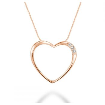 10KR Heart Pendant with Chain