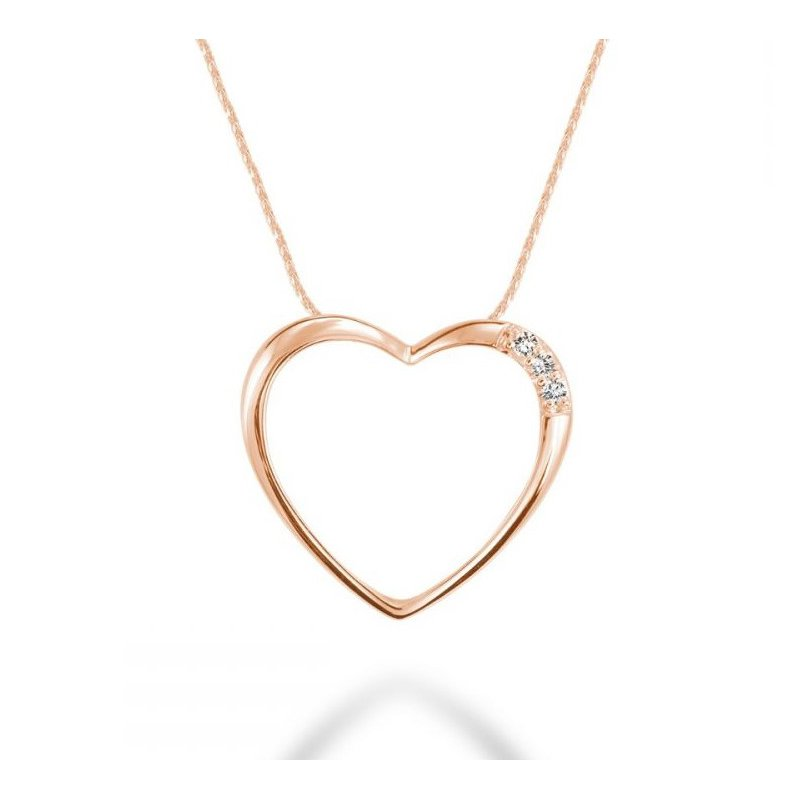 Showcase Collection 10KR Heart Pendant with Chain