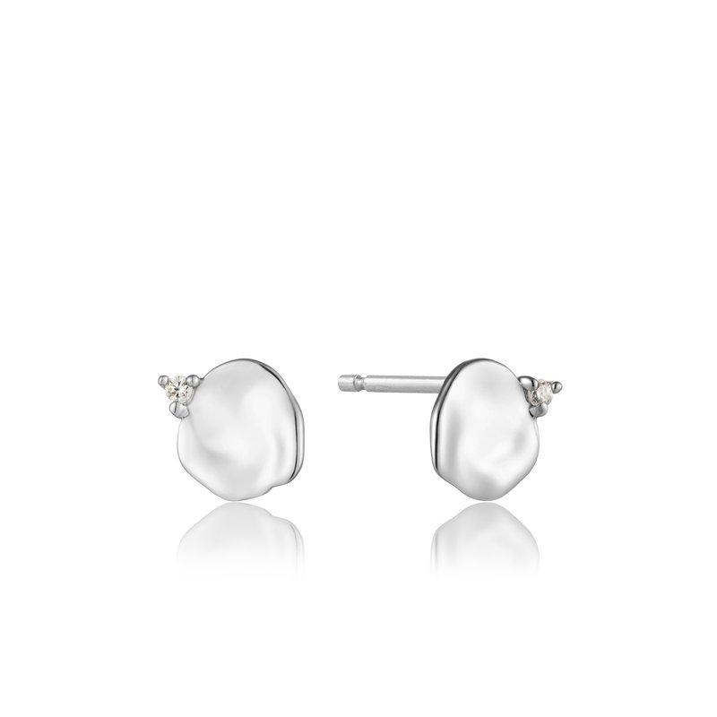 ANIA HAIE Silver Crush Disc Stud Earrings