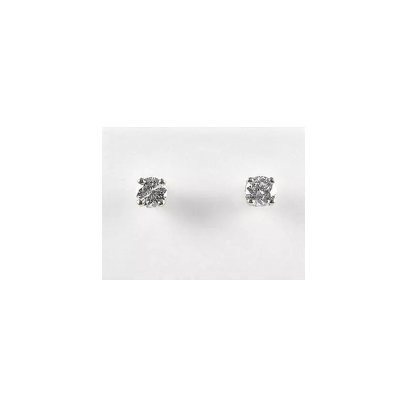 Showcase Collection 10KW CZ Stud Earrings