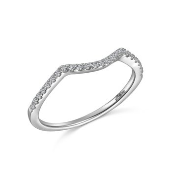 14KW Contoured Diamond Wedding Band