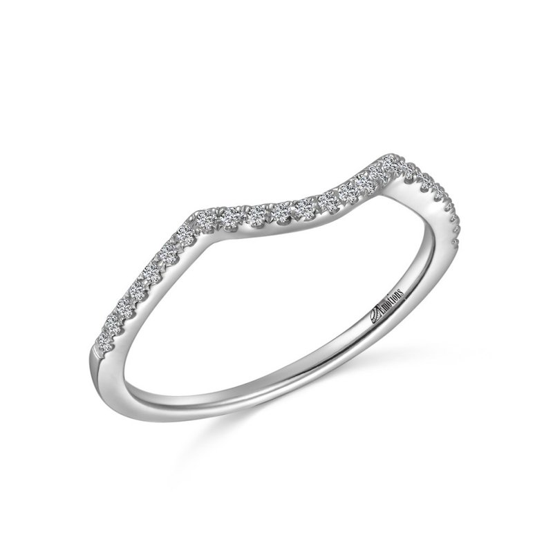 Showcase Collection 14KW Contoured Diamond Wedding Band