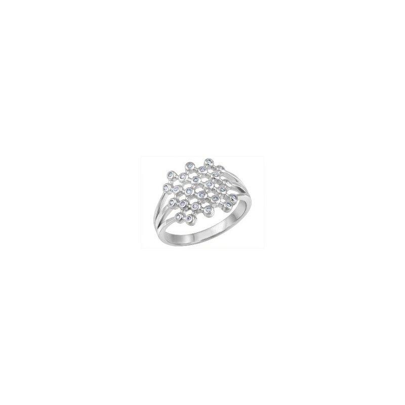 Forever Ice 10KW Split Shank Lattice Ring