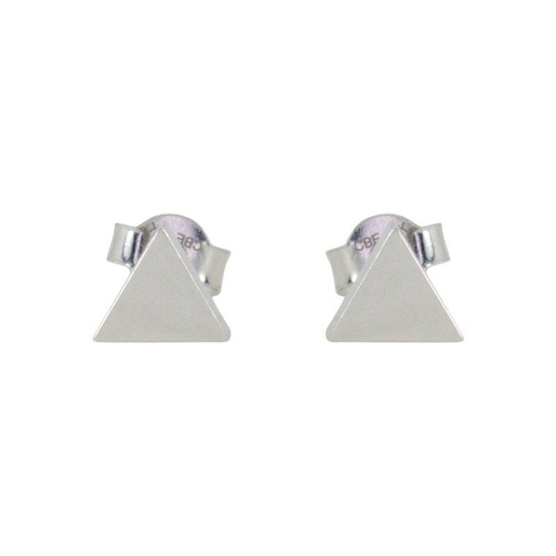 Showcase Collection 10KW Triangle Post Earrings