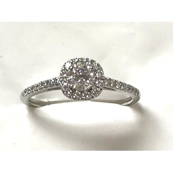 14KW Halo Engagement Ring