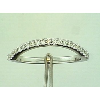 18KW Contoured Diamond Wedding Band