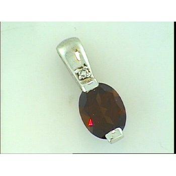 Genuine Garnet Pendant