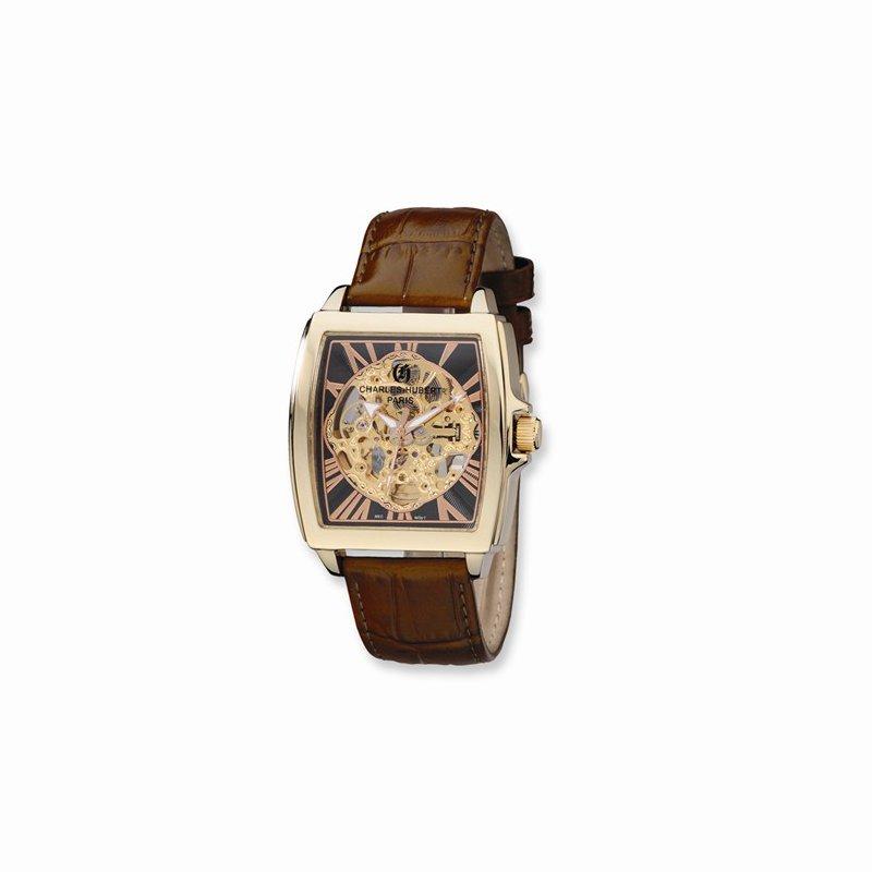 Charles Hubert Stainless Steel Skeleton Dial watch