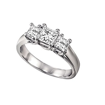 Three Stone Princess Cut Diamond Ring 0.25 ctw HDR1086