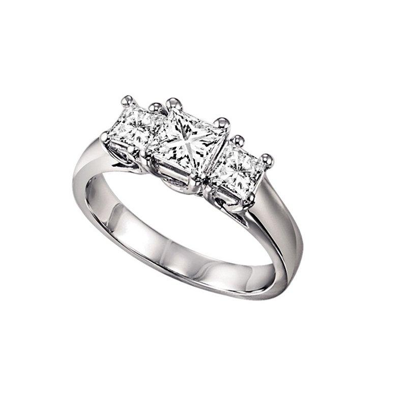 Grandis Signature Three Stone Princess Cut Diamond Ring 0.25 ctw HDR1086