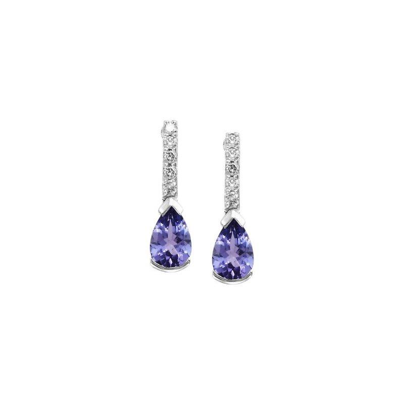 Showcase Collection Pear Shape Tanzanite & Diamond Earrings
