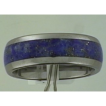 Gent's Tungsten Carbide Band with Lapis