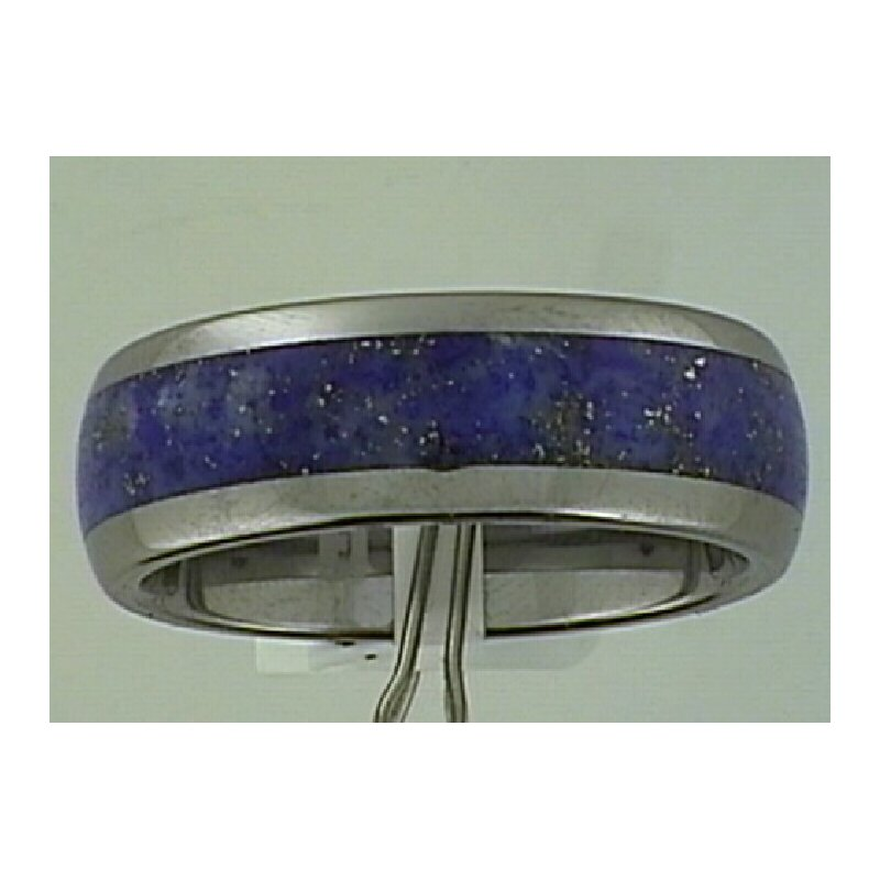 Showcase Collection Gent's Tungsten Carbide Band with Lapis
