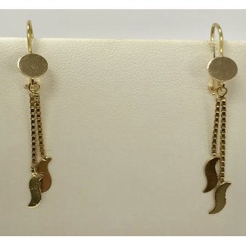 18KY Double drop earrings