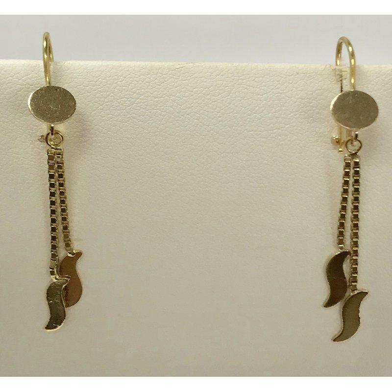 Estate Specials 18KY Double drop earrings