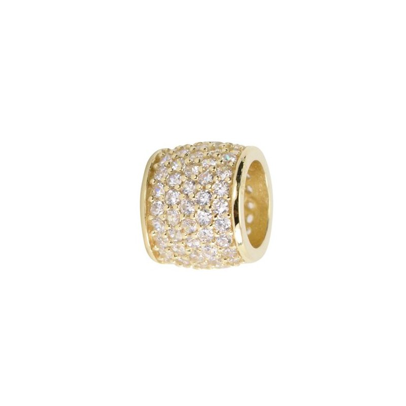 Showcase Collection 10KY CZ Pave Tube Slide