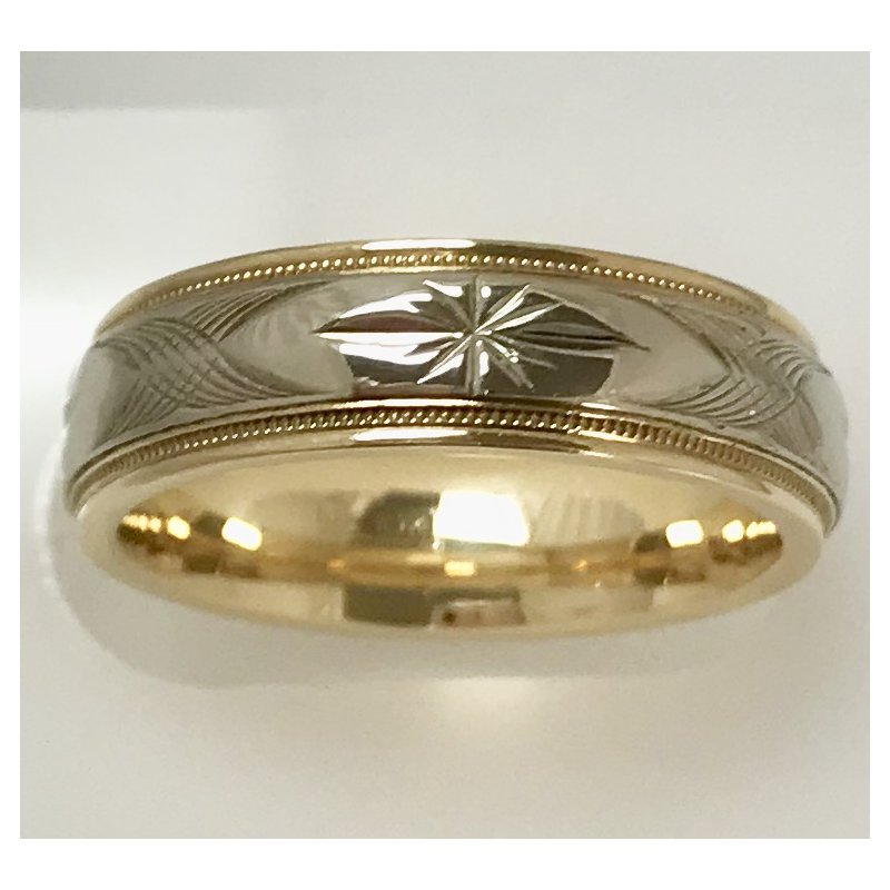 Estate Specials Two Tone Wedding Band