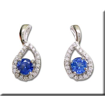 Blue Sapphire and Diamond Stud Earrings GJECC083S13WI