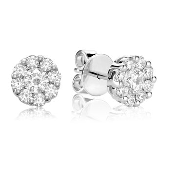 14KW Flower Set Diamond Studs