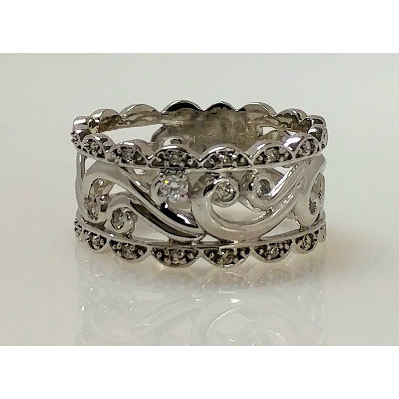 Showcase Collection 10KW Filigree Ring with Diamond Accents