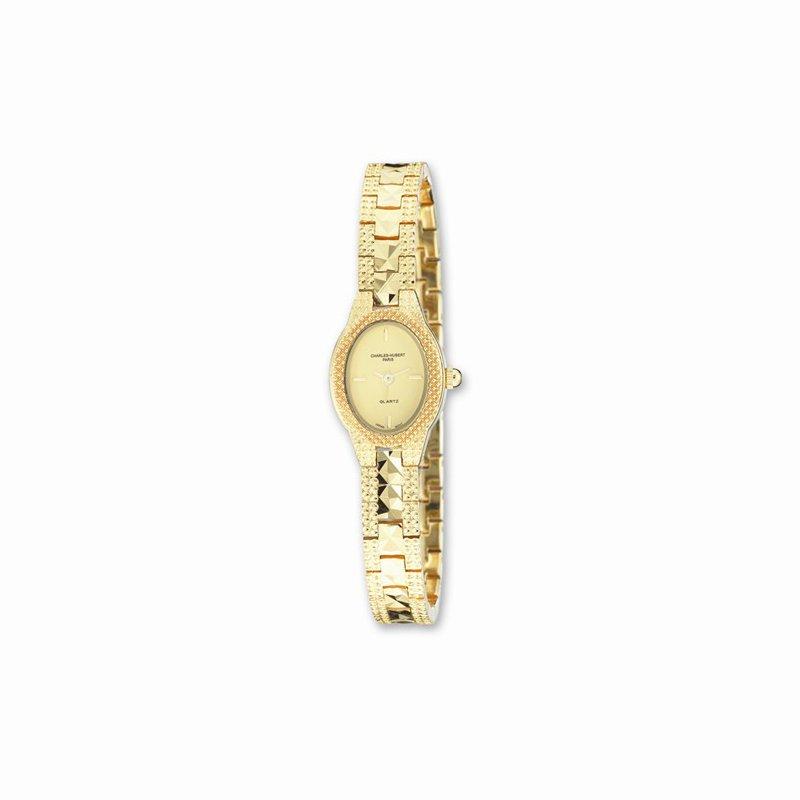 Charles Hubert Gold Finish Brass Gold Dial Watch