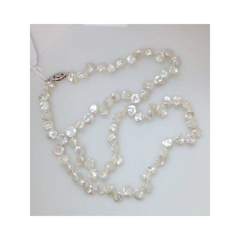 Showcase Collection FW Flake Pearl Necklace